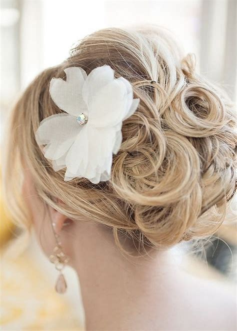 Flower Updo Hairstyles by 35 Wedding Hairstyles Discover Next Year S Top Trends For