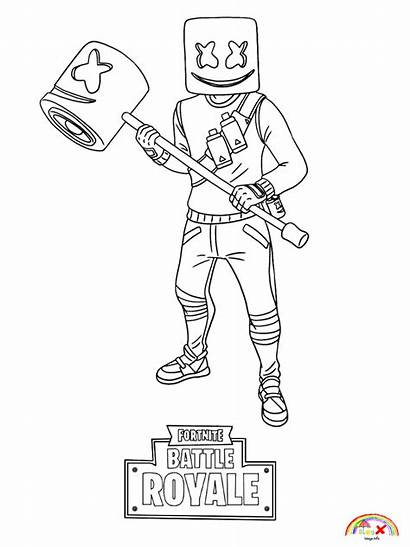 Fortnite Coloring Marshmello Pages Blogx Info Printable