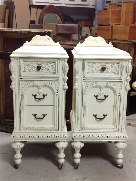 shabby chic nightstand vintage bedside table white woodworking projects plans