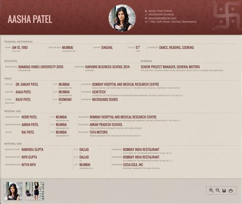 marriage biodata format created with www easybiodata
