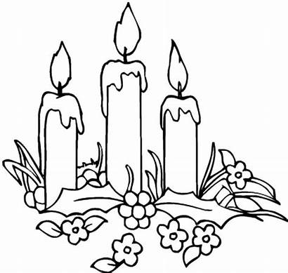 Candle Coloring Christmas Pages Candles Decorating Printable