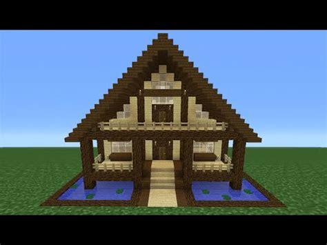 minecraft tutorial     wooden house  youtube