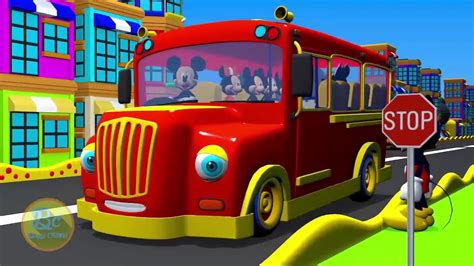 mickey mouse clubhouse wheels   bus nursery rhymes  kids song  animation youtube