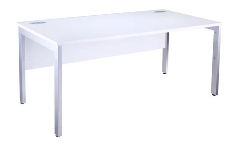 white desk with silver legs white bench computer it desk silver legs 800 deep various