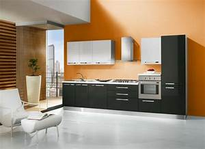 Idee Couleur Mur Cuisine : cuisine orange 50 id es d 39 am nagement stimulantes ~ Dailycaller-alerts.com Idées de Décoration