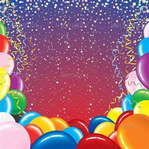 background  balloons  confetti balloons confetti