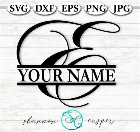split monogram svg single letter   cricut  silhouette etsy   single letter