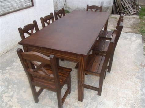 juego de comedor estilo rustico mesa mts