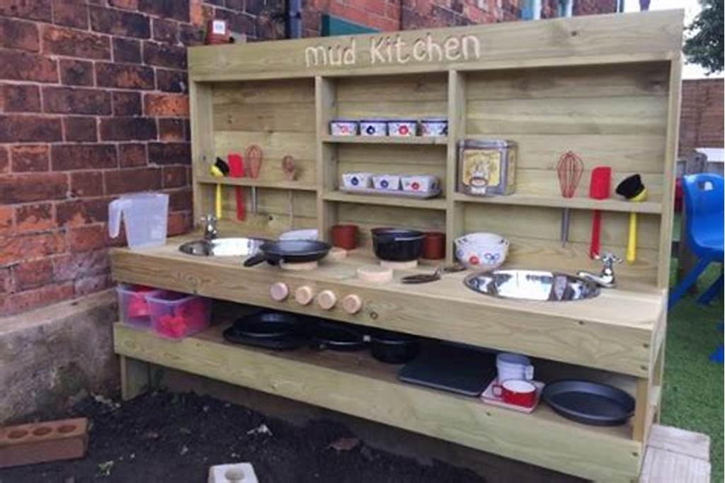 #Fun #Ideas #For #Outdoor #Mud #Kitchens #For #Kids