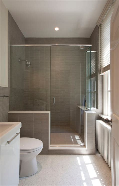 manhattan townhouse modern bathroom  york