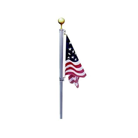 ezpole defender 21 ft sectional flagpole kit with swivels ezd21 the home depot