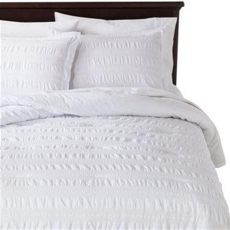 seersucker bedding threshold seersucker comforter set white full queen