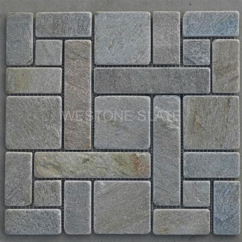 travertine tile for shower slate mosaics in pattern westone