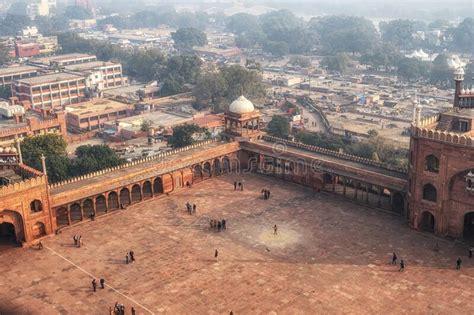 courtyard  jama masjid mosque  dehli editorial