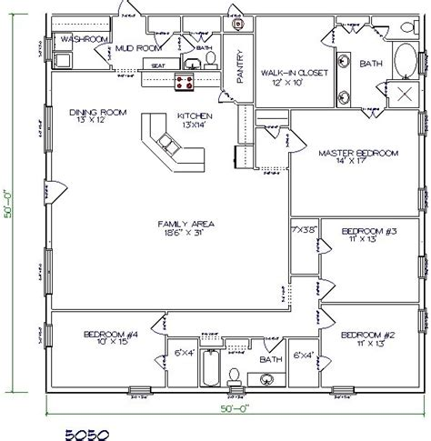 40x60 Barndominium Floor Plans by 4 Bedroom Barndominium Plans Studio Design Gallery