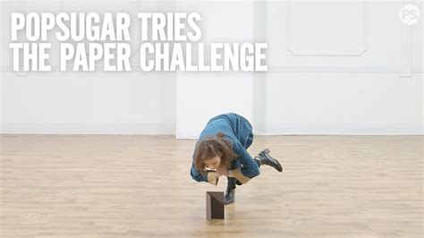PopSugar Tries: The Paper Challenge - YouTube
