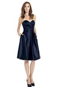 navy wedding dress strapless navy blue bridesmaid dresses cherry