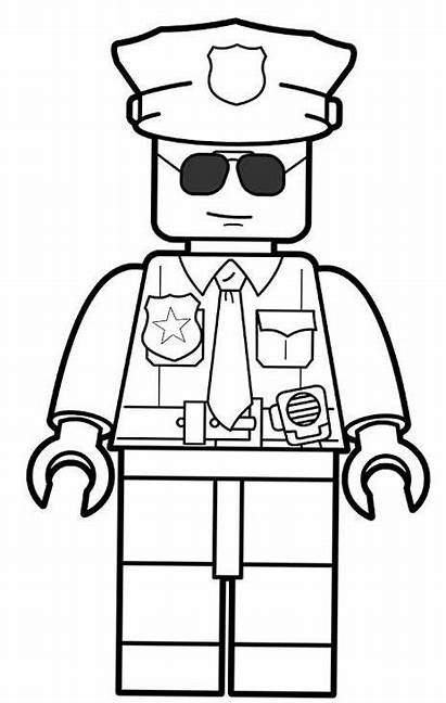 Lego Coloring Police Pages Officer Rocks Printable