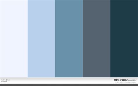 Blue Gray Color Scheme New Palette Retro Palettes