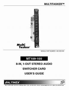Mt109-100 Manuals