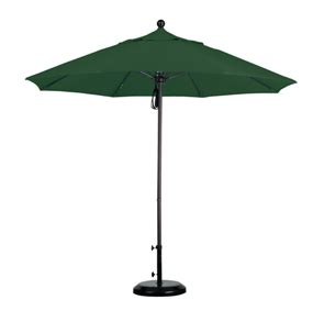 9 forest green aluminum sunbrella patio umbrella fabric a