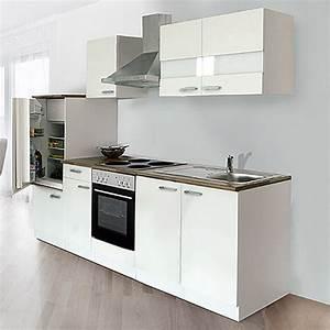 Einbauküchen Mit Elektrogeräten : respekta k chenzeile kb270ww breite 270 cm mit ~ A.2002-acura-tl-radio.info Haus und Dekorationen
