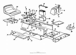 Mtd 13a0619g206  1997  Parts Diagram For Seat  Frame