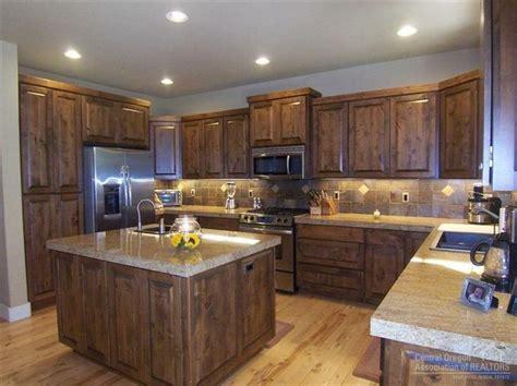 dark alder cabinets home pinterest countertops