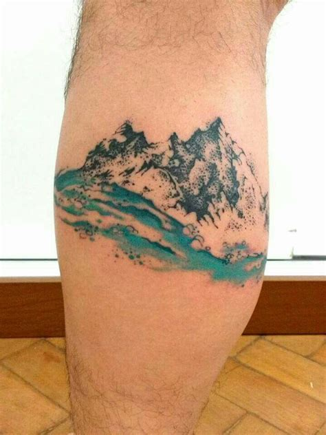 watercolor mountain tattoo designs ideas  meaning