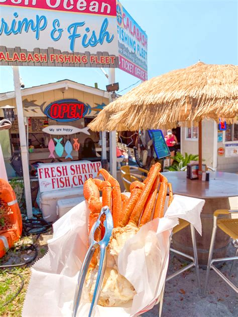 eat place brunswick crab legs carolina north seafood waterfront calabash fleet islands fishing grouper dessert travel