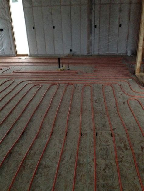 install subfloor concrete concrete over a plywood subfloor with 16 quot on center floor joists