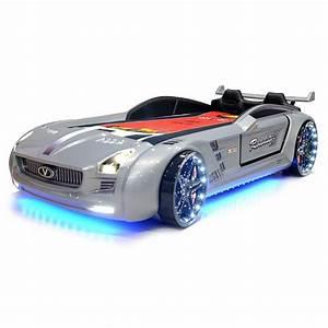 Lit Voiture Garcon : lit voiture pour enfant roadster eclairage led avec ~ Melissatoandfro.com Idées de Décoration
