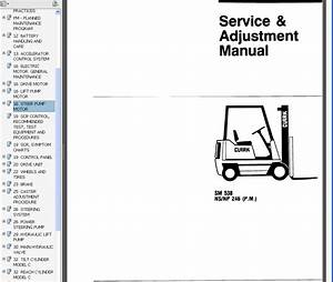 Clark Service Manual Sm 538 Ns  Np 246  P M