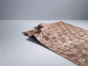Tapis En Bois : madeira transformada em um tipo de tecido por designer ~ Teatrodelosmanantiales.com Idées de Décoration