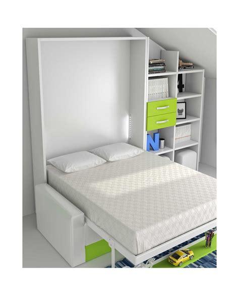 lit escamotable avec canape armoire lit escamotable verticale avec étagère et canapé