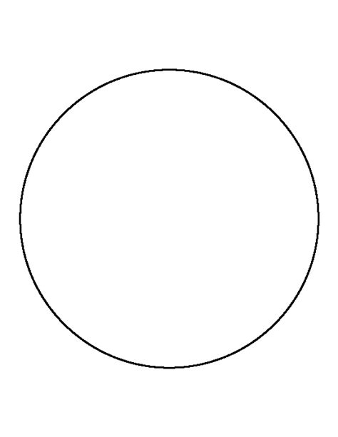 Circle Template Circle Pattern Use The Printable Outline For Crafts