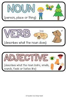 nounverbadjective activities images adjectives