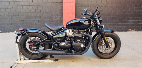 1 New Triumph Bonneville Bobber Blacks For Sale In Denver