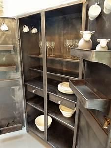 Armoire Industrielle Vintage : les 49 meilleures images du tableau armoire industrielle ~ Teatrodelosmanantiales.com Idées de Décoration