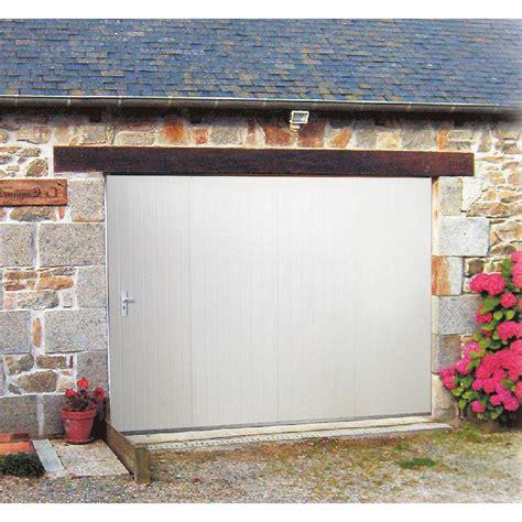 eclairage de garage porte de garage coulissante manuelle artens h 200 x l 240