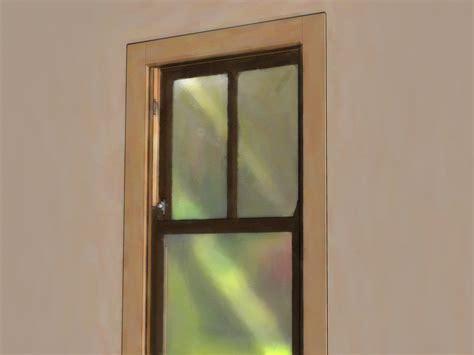 ways  open  stuck window wikihow