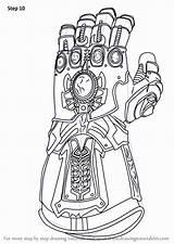 Infinity Gauntlet Avengers Marvel Thanos Coloring Draw War Learn Colorir Iron Drawing Step Drawings Fortnite Colorear Hulk Dibujos Ausdrucken Zum sketch template