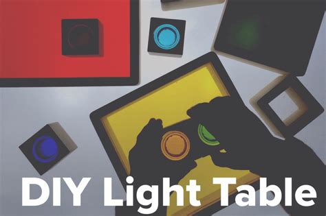 diy light table diy light table light play explorations sturdy for