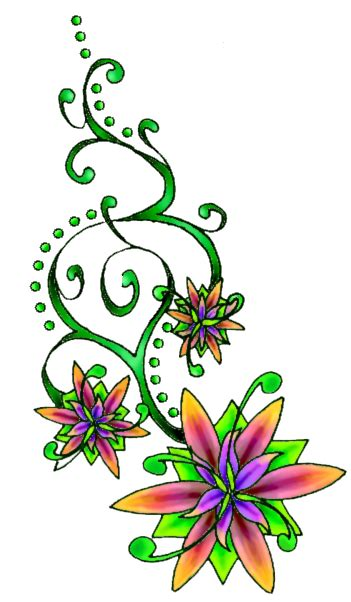 flower tattoo png transparent images png