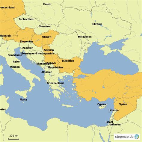 stepmap fluchtweg von syrien landkarte fuer deutschland