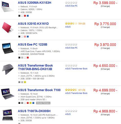 5 Harga Netbook Terbaru daftar harga laptop netbook asus terbaru april mei 2019