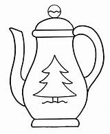 Teapot Coloring Pages Coffee Christmas Pot Colouring Drawing Tea Template Printable Clipart Kettle Clip Pots Cliparts Easy Outline Pre Teapots sketch template