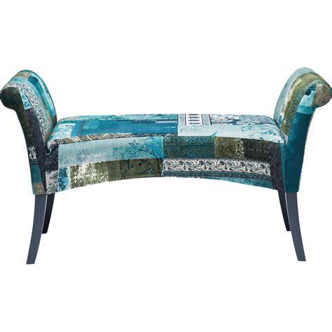 solde fauteuil de bureau banc patchwork motley bleu hour kare design