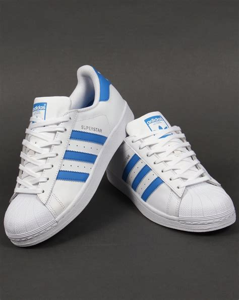 Adidas Superstar Trainers WhiteRay Blue,originals,,shell