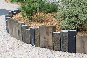 Bordure D Allée : piquets d ardoise et bois couleur jardin ~ Preciouscoupons.com Idées de Décoration